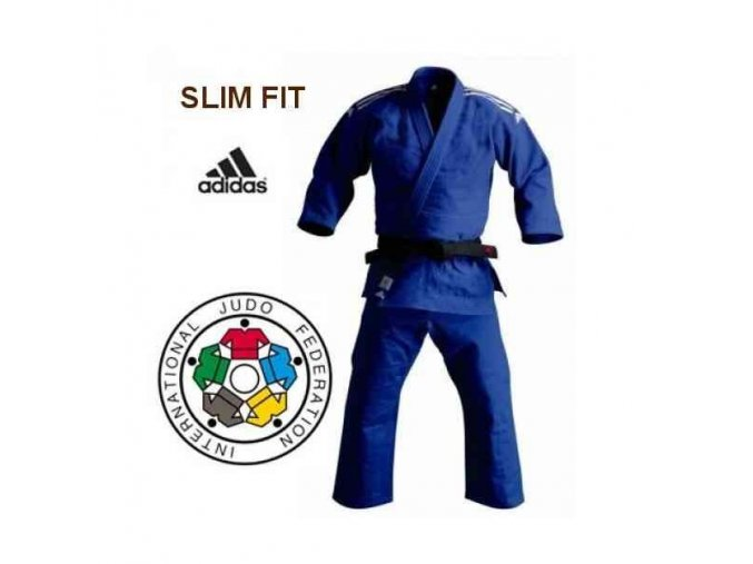 Modré kimono na judo IJF CHAMPION II 2017 Slim Fit