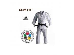 Bílé kimono na judo IJF CHAMPION II 2017 Slim